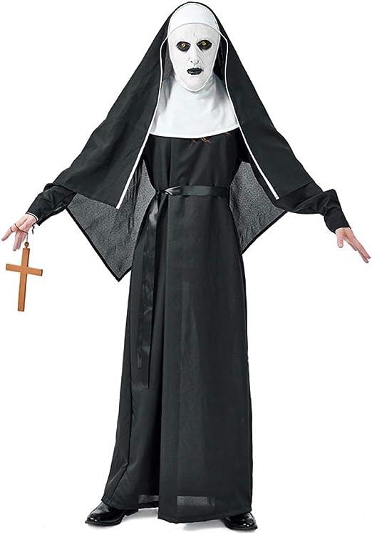 COSOER Disfraz De Monja del Diablo Fantasma del Monasterio del ...