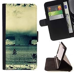 Momo Phone Case / Flip Funda de Cuero Case Cover - Enorme Tornado Huracán;;;;;;;; - MOTOROLA MOTO X PLAY XT1562