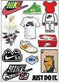 Nike Logo Skateboard Vinyl Sticker Laptop Luggage Car Bumper Cellphone Decals