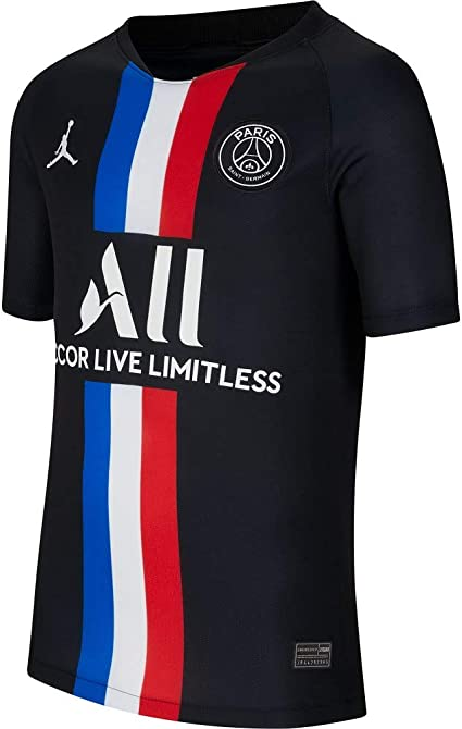 Amazon Com Jordan 2020 Psg Youth Fourth Jersey Black Yxl Clothing
