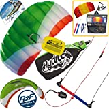 HQ Hydra II 350 V2 Kiteboarding Trainer Kite Bundle : Includes FREE 2ND Kite : Symphony Beach II 1.3M Foil Kite + WindBone Kiteboarding Key Chain : Water Trainer Foil Traction Power Kite
