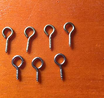 Prettyia 100pcs Mini Metal Hoop Peg Screw Eye Pin Hook for Arts Crafts Projects Charm Bead Cork Top Bottles DIY Jewelry Making Findings