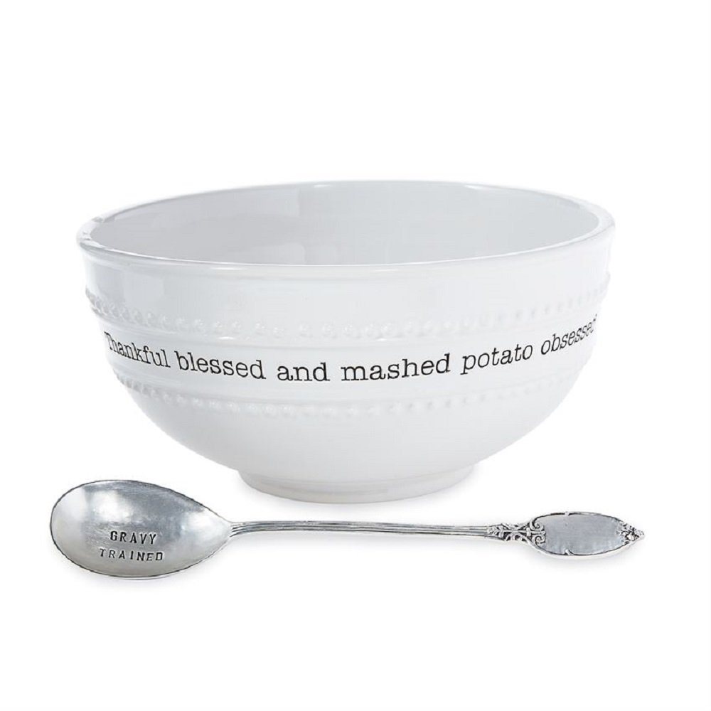 Bowl 4 1//2 x 9 Diameter Bowl 4 1//2 x 9 Diameter Spoon 9 Mashed Potato Bowl Set MP001 Spoon 9
