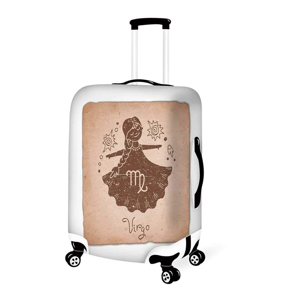26.3W x 30.7H Vintage Floral Stylish Luggage Cover,Lily Flowers on Grunge Backdrop Gardening Plants Growth Botany for Luggage,L
