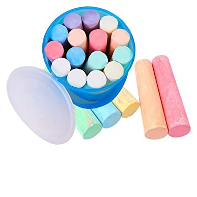 InKach Sidewalk Colored Chalk for Outdoor Kids Drawing Painting Driveway Chalk Stick Art Play Set Outside Chalk Pens Easter Gifts (Multicolor): Toys & Games