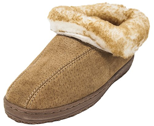 Platforms Leather Lambskin (Old Friend Women's Juliet Moccasin Slippers (8 B(M) US, Cinnamon))