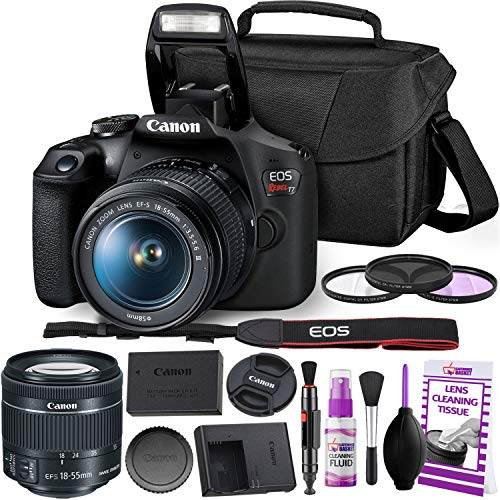Canon Rebel T7 DSLR Camera with 18-55mm DC III Lens Kit and Carrying Case, Creative Filters, Cleaning Kit, and More