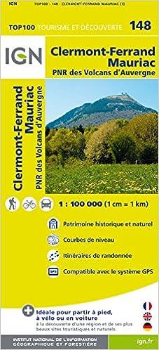 Lire Top100148 Clermont-Ferrand/Mauriac 1/100.000 pdf