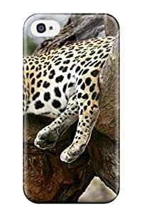 New Cute Funny Sleeping Leopard Case Cover/ Iphone 4/4s Case Cover