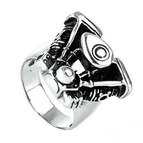 337445b8b9f8 70% OFF Beydodo Joyas Anillo de Hombre Acero Inoxidable Anillo Motores  Harley-Davidson Anillo