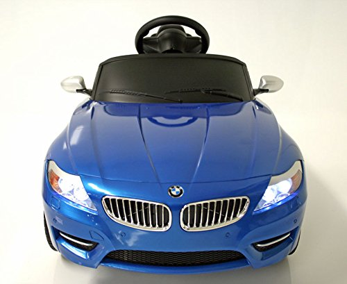 Bmw Z4 Kids Ride On Car Toy Electric Car With Remote Control Blue