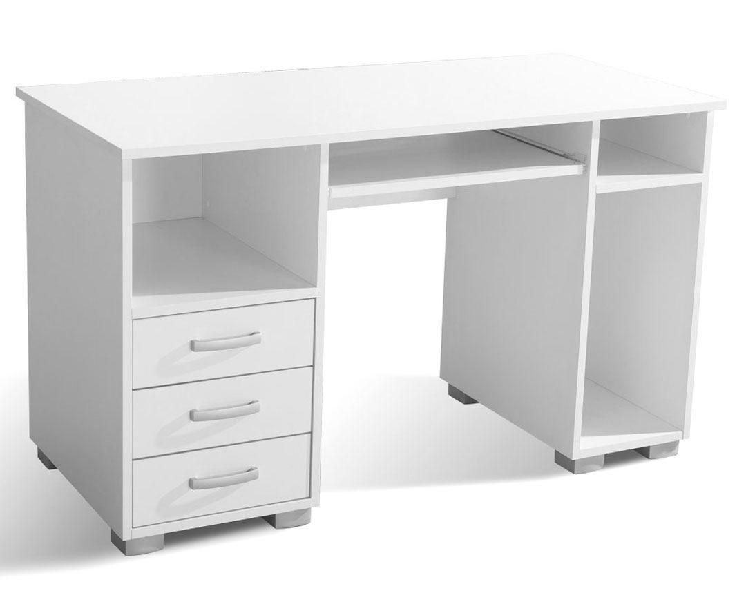 Schreibtisch Pilas 01 Farbe Weiß 130 75 X 130 Weiß X 60 Cm H X B
