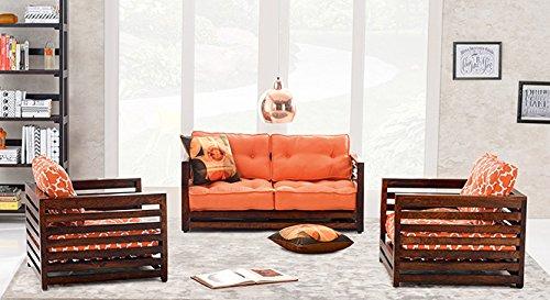 Urban ladder raymond low wooden sofa standard set 2 1 1 amazon in home kitchen