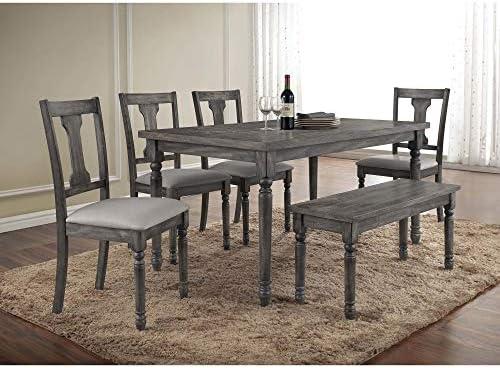 Amazon.com - Best Master Furniture Demi Grey Wood and Veneer ...