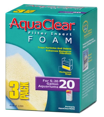 Aquaclear 20 Foam - Aquaclear 20-Gallon Foam Inserts, 3-Pack