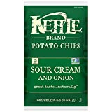 Kettle Brand Potato Chips, Sour Cream and Onion, 8.5-Ounce Bags (Pack of 12)