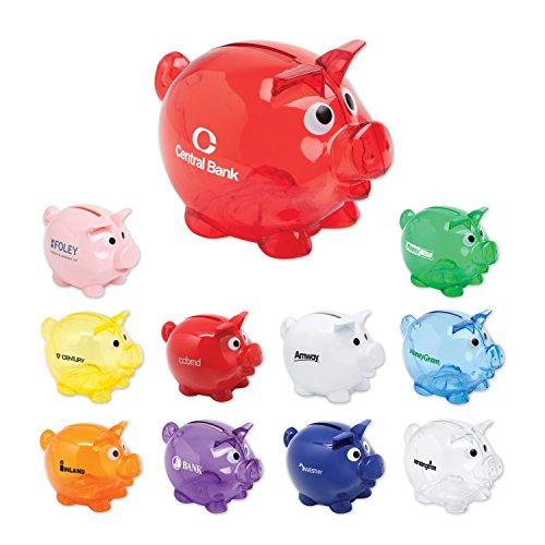 150 Personalized Small Piggy Bank Printed with Your Logo or Message by Ummah Promotions