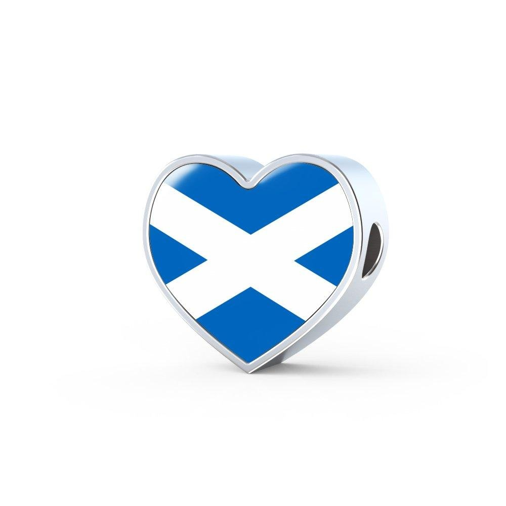 Unique Gifts Store Scottish Heart - Luxury Heart Charm Flag