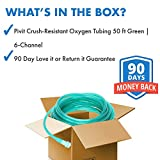 Pivit Crush-Resistant Oxygen Tubing 50 ft Green