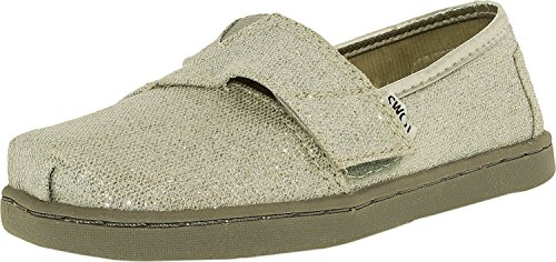 TOMS Girl's Classic Canvas Silver Glimmer Ankle-High Fashion Sneaker - 10M - Image 3