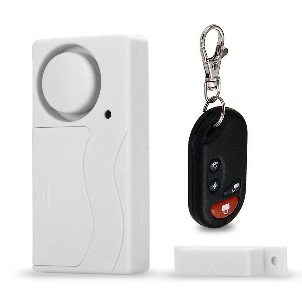 fitTek Wireless Fenster Tür Alarm Alarmanlage Sicherheitssystem mit Fernbedienung