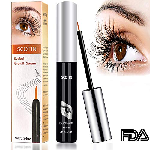 68154a2d0e4 Eyelash Serum 7ml Eyelash Growth Serum Lash Enhancer Serum with Rich  Botanical Extracts for Long Beautiful Eyelashes Irritation Free Upgraded by  OKEEY