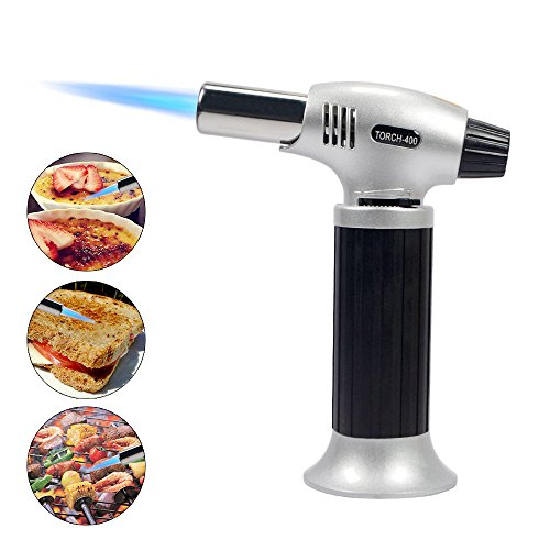 Blow Torch Kitchen Butane Torch Refillable Culinary Torch with Safety Lock and Adjustable Flame(Butane Gas Not Included) - - Camping For Need You Trip What