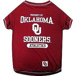 Pets First NCAA Oklahoma Sooners Dog T-Shirt, Small