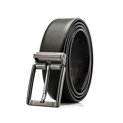 YXN Traje de Negocios Cinturón de Cuero de aleación Pin ...