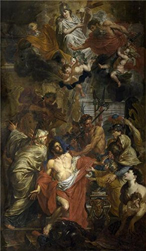 Oil Painting 'Godfried Maes - The Martyrdom Of Saint George, 17th Century' 10 x 17 inch / 25 x 44 cm , on High Definition HD canvas prints is for Gifts And Bath Room, Dining Room And Home Thea decor (Cinemas Thea)