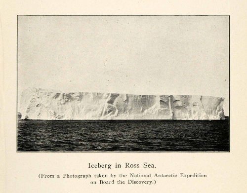 1905 Print Iceberg Ross Sea Arctic Ocean Nature South Pole Winter Outdoor Snow - Original Halftone - Disco Arctic