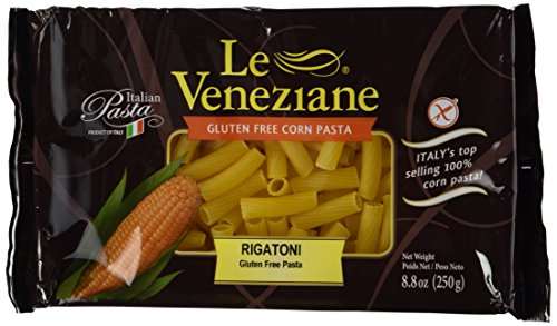 - Le Veneziane - Italian Rigatoni Pasta [Gluten-Free], (4)- 8.8 oz. Pkgs