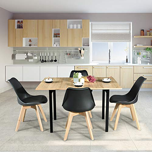 - Homy Casa Marlowe Wood HM LMKZ Extendable Rectangular-Easy to Open and Close with Metal Structure Dining Table,
