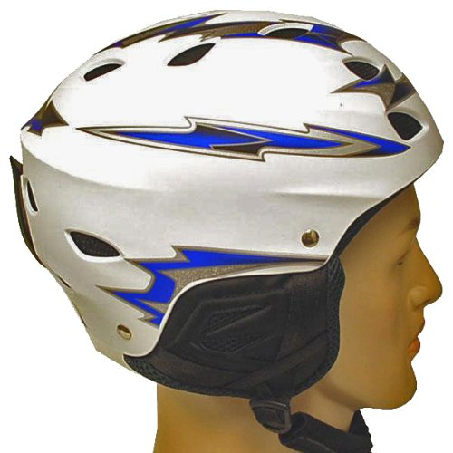 NEW WOW White Blue Arrow Snowboard Ski Sports Snow Helmets Youth and Adult Size, Outdoor Stuffs