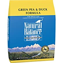 Natural Balance L.I.D. Limited Ingredient Diets Dry Cat Food, Grain Free, Green Pea & Duck Formula, 10-Pound