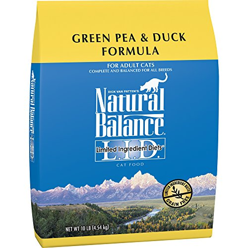 Natural Balance L.I.D. Limited Ingredient Diets Dry Cat Food, Grain Free, Green Pea & Duck Formula, (Amp Adult Green)