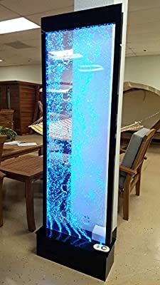 LED Full Color Bubble Wall, 6' x 2', Water Fountain Panel with Apple Cut Out Patterns, for Home or Restaurant
