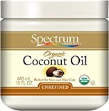 Spectrum Organic Coconut Oil, Unrefined Virgin, 15 Ounce