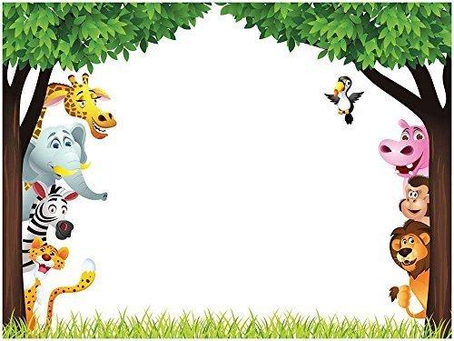 Wall26 Cartoon Jungle Animals Children S Dry Erase