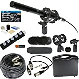 Professional Advanced Broadcast Microphone and Accessories Bundle for Canon VIXIA HF R800 R700 R600 R500 R80 R70 R60 R50 R82 R72 R62 R52 Camcorders