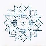 """Stamped White Quilt Blocks 9""""X9"""" 12/Pkg-XX Stars"""