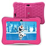 【Upgraded】Dragon Touch Y88X Plus 7 inch Kids Tablet, Kidoz Pre-Installed with Disney Content (more than $80 Value) - Pink