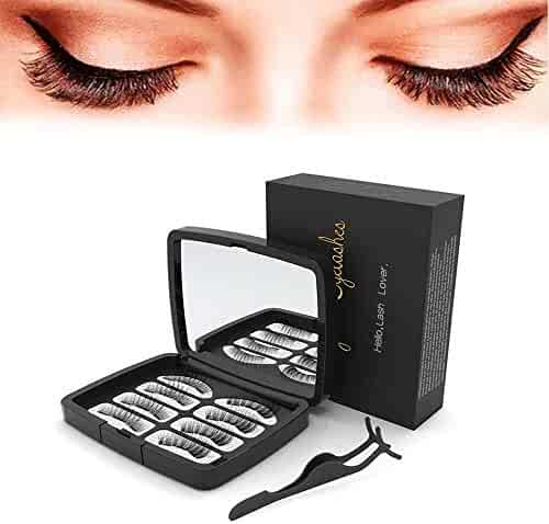 30ff72aba8f Beauty HAO Upgraded Magnetic Eyelashes,0.2mm Ultra Thin Magnet, Light weight  & Easy