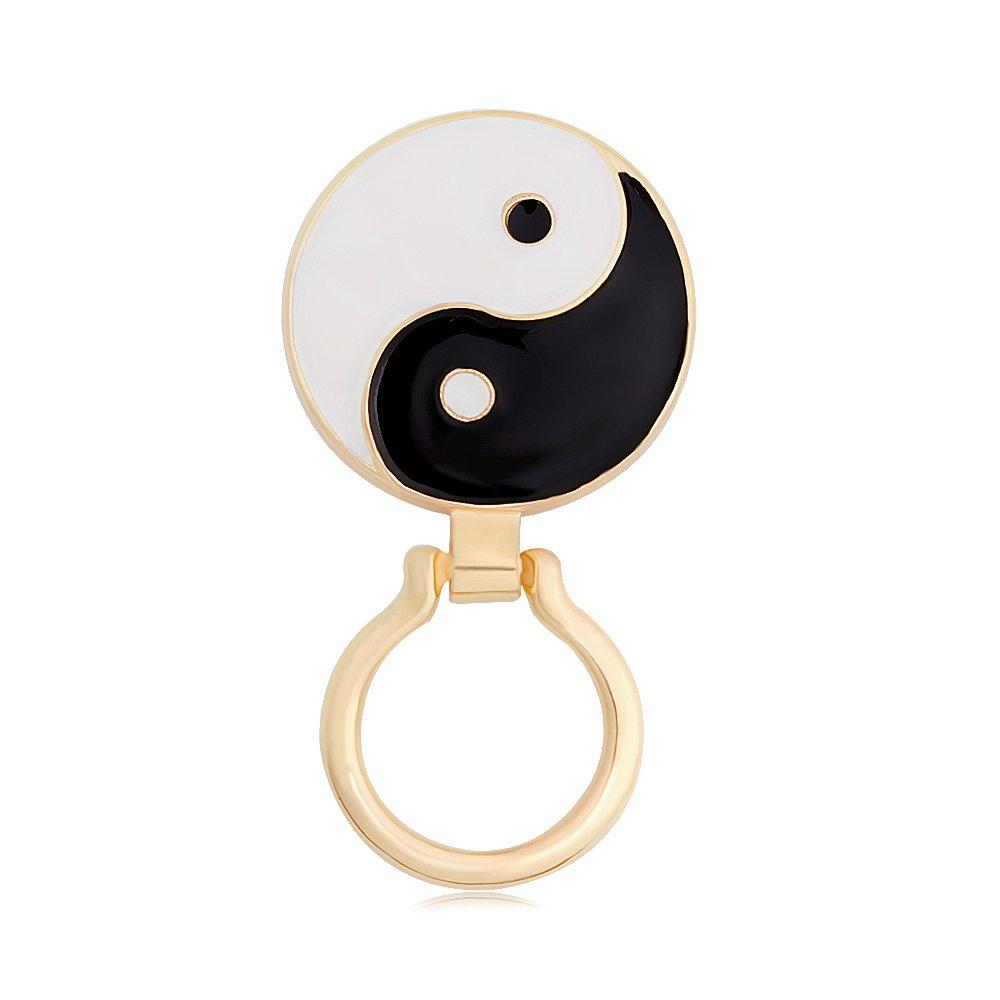 PANGRUI Simple Yin-yang Tai Chi Magnetic Eyeglass Holder Brooch Pin (gold)