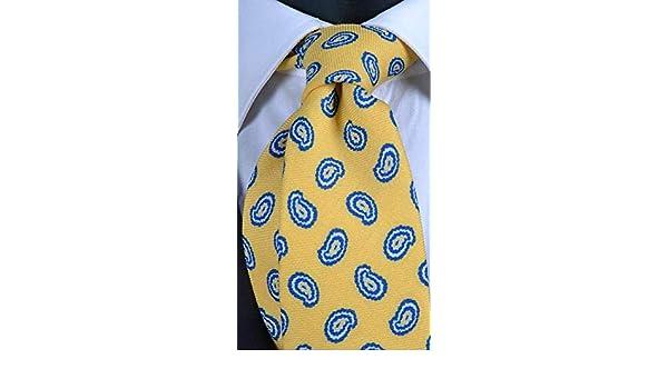 Graffeo - Corbata para hombre de lana amarilla, diseño de ...