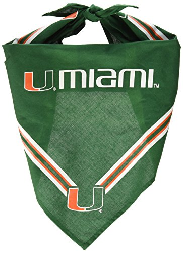 Collegiate Miami Hurricanes Pet Bandana, Medium/Large - Dog Bandana must-have for Birthdays, Parties, Sports Games -