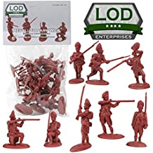 LOD Revolutionary War British Army Grenadier Soldiers - 16 Red 1:32 Figures