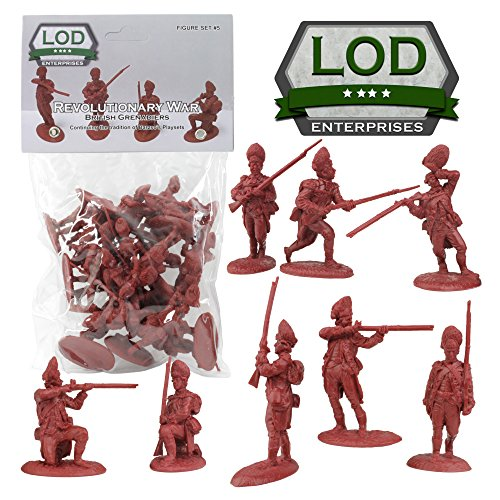 LOD Revolutionary War British Army Grenadier Soldiers - 16 Red 1:32 Figures from LOD