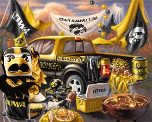 66'' Wide Collegiate Fleece Tailgating Panel University of Iowa Fabric By The Panel