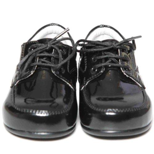 Bébé garçons Smart noir dentelle brevets chaussures